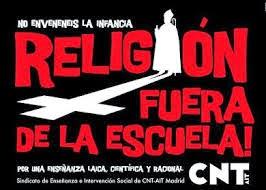 LA RELIGIÓN FUERA DE LA ESCUELA Y DEL MUNDO