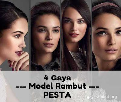 gaya model rambut wanita ke pesta_3266987