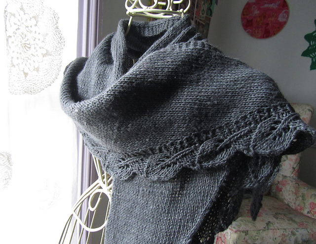 knitnscribble.com: Easy shawl pattern inspired by \