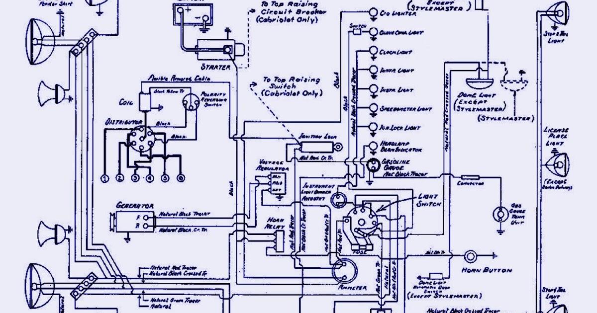 Circuit panel 1940 Chevrolet Passenger Electrical Wiring Diagram
