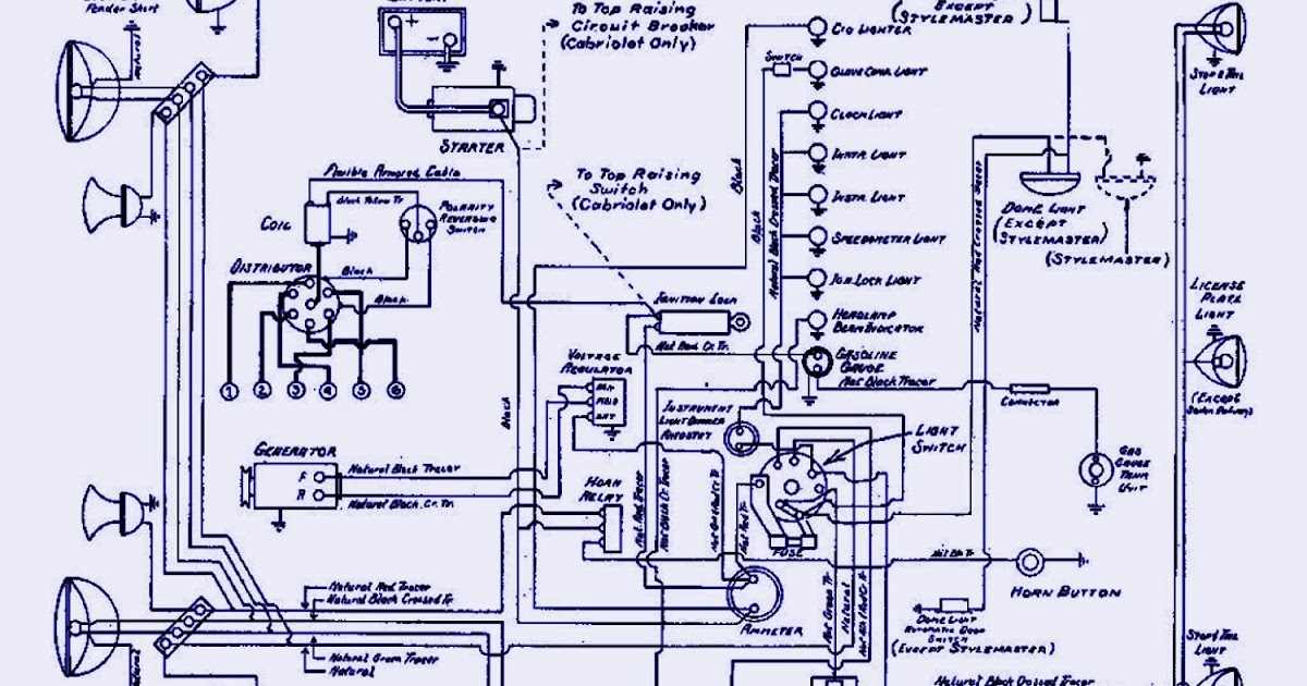 1940 Chevrolet Passenger Electrical Wiring Diagram