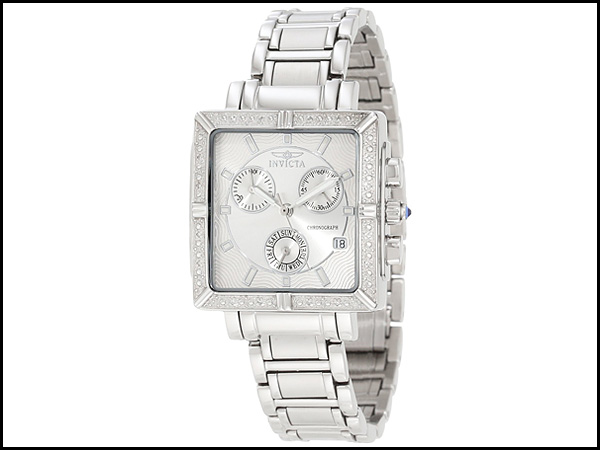 Invicta-Women's-5377-Square-Angel-Diamond-Stainless-Steel-Chronograph-Watch