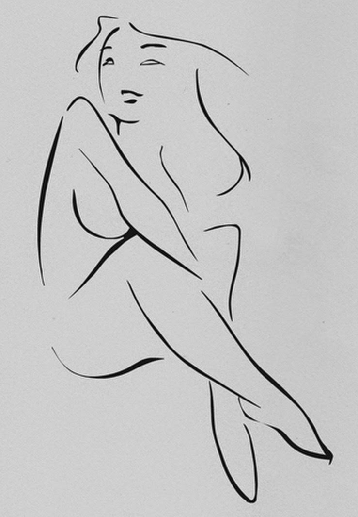 Dibujos animados de un solo desnudo