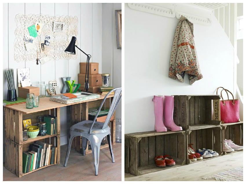 Soluciones decorativas con cajas de fruta de madera by Habitan2