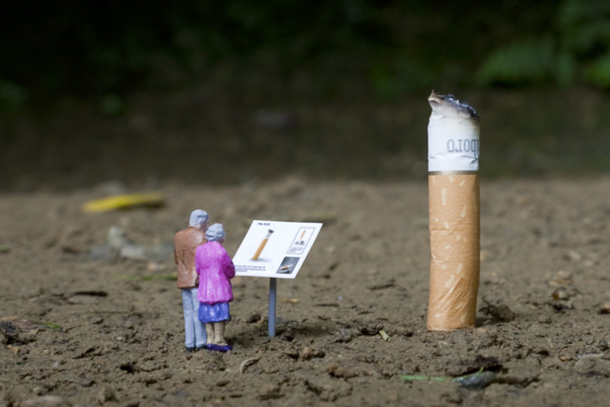 """Little People Project"" by Slinkachu"