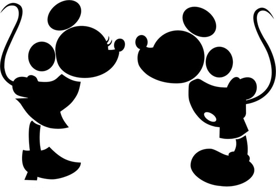 Silueta de Mickey Mouse y Minnie - Imagui