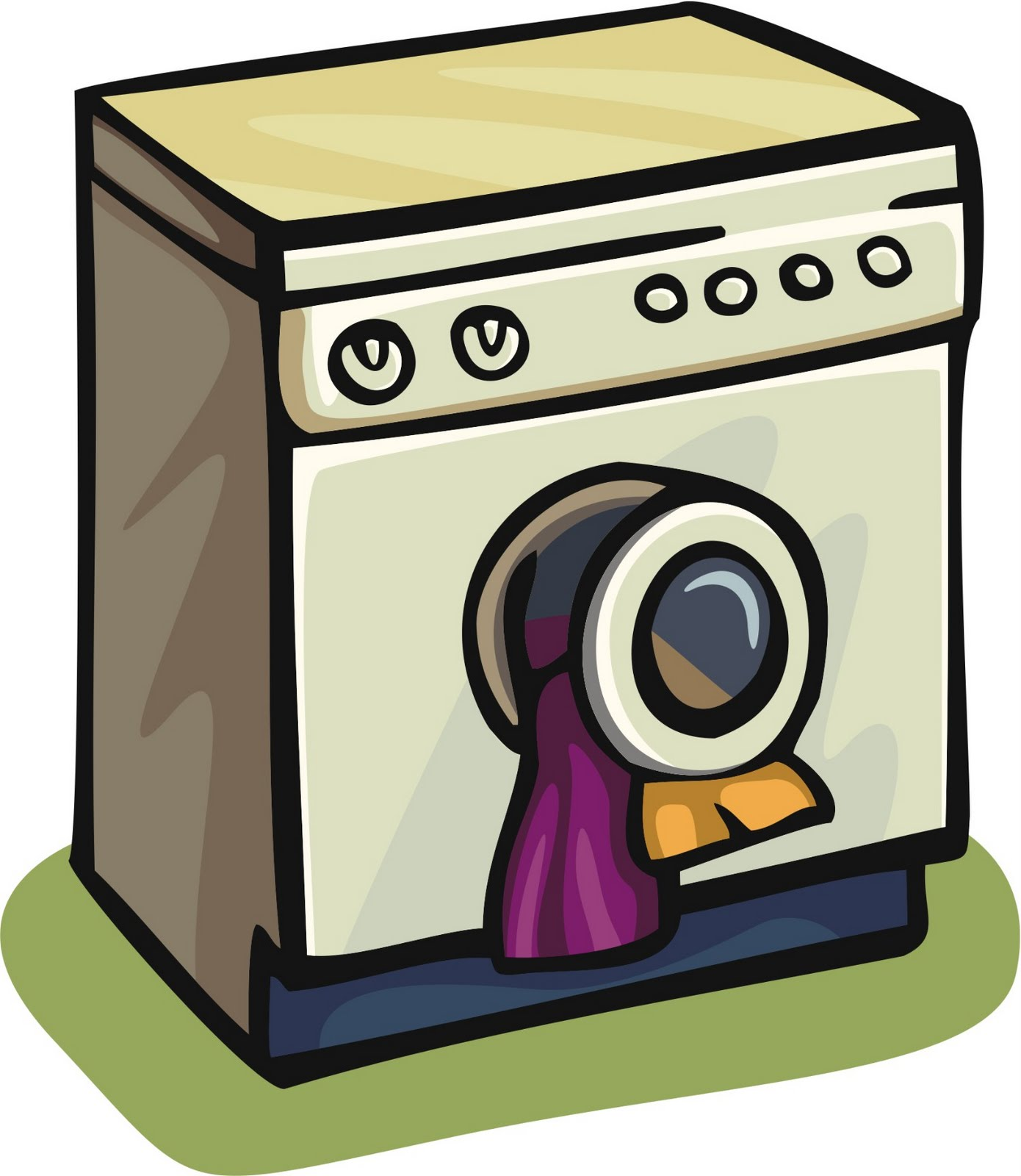 pin washing machine and laundry icons stock on