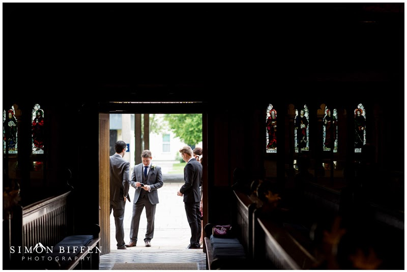 Groomsmen pre ceremony at Taunton School