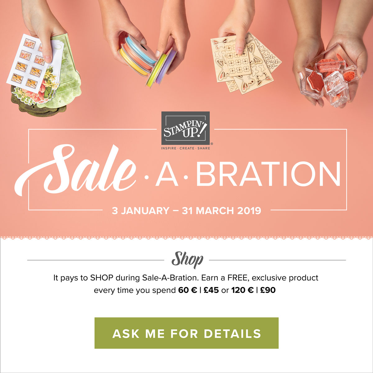Stampin' Up! Sale-A-Bration 2019 Catalogue
