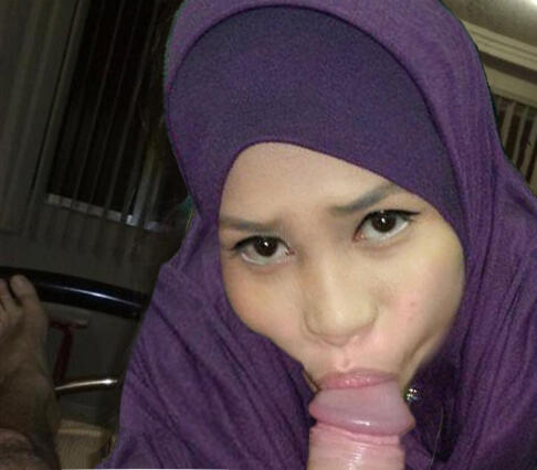 hijab blowjob mawar merah