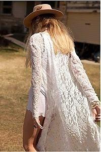 dlugi sweter koronkowy
