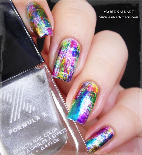 nail art dry brush infinite ombré2