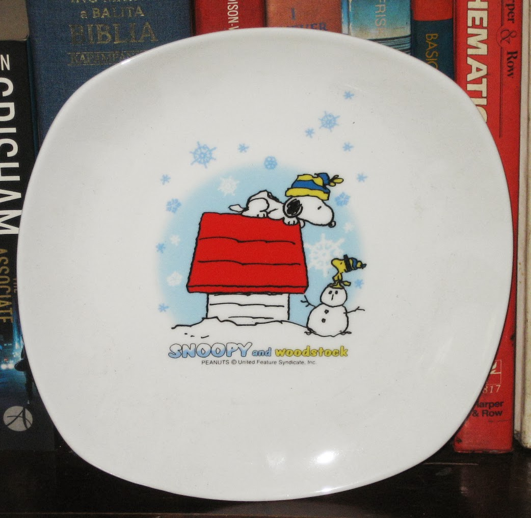 Percy\'s Fast Food Toy Stories: Snoopy and Woodstock Christmas Plate ...