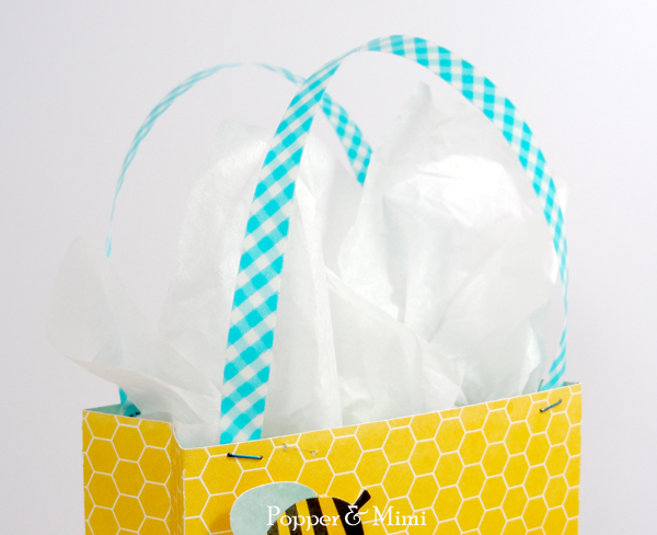 Washi Tape Gift Bag Handles | popperandmimi.com