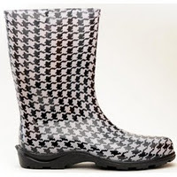 Sloggers 5005HT07 Size 7 Houndstooth Women's Waterproof Rain Boots