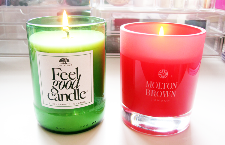 Luxury Festive Candles from Origins & Molton Brown