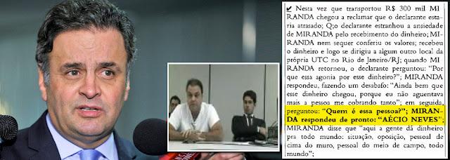 Delator acusa Aécio de Receber Propina no valor de R$ 300 mil