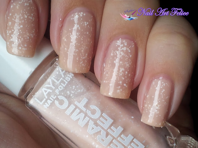 CE101 Bleached Peach - Ceramic Sorbet Effect Layla - Swatch02 - Nail Art Felice