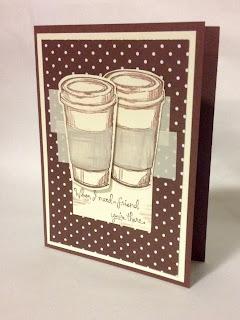Stampin Up Handmade Card MidnightCrafting Perfect Blend Coffee Friendship