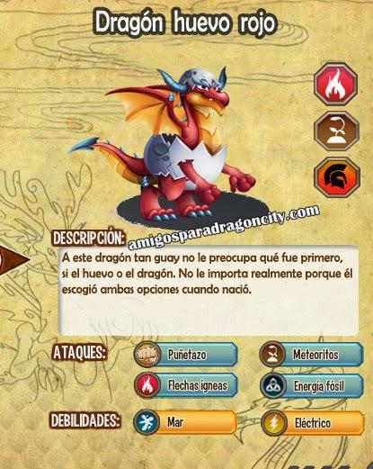 imagen de las caracteristicas del dragon huevo rojo