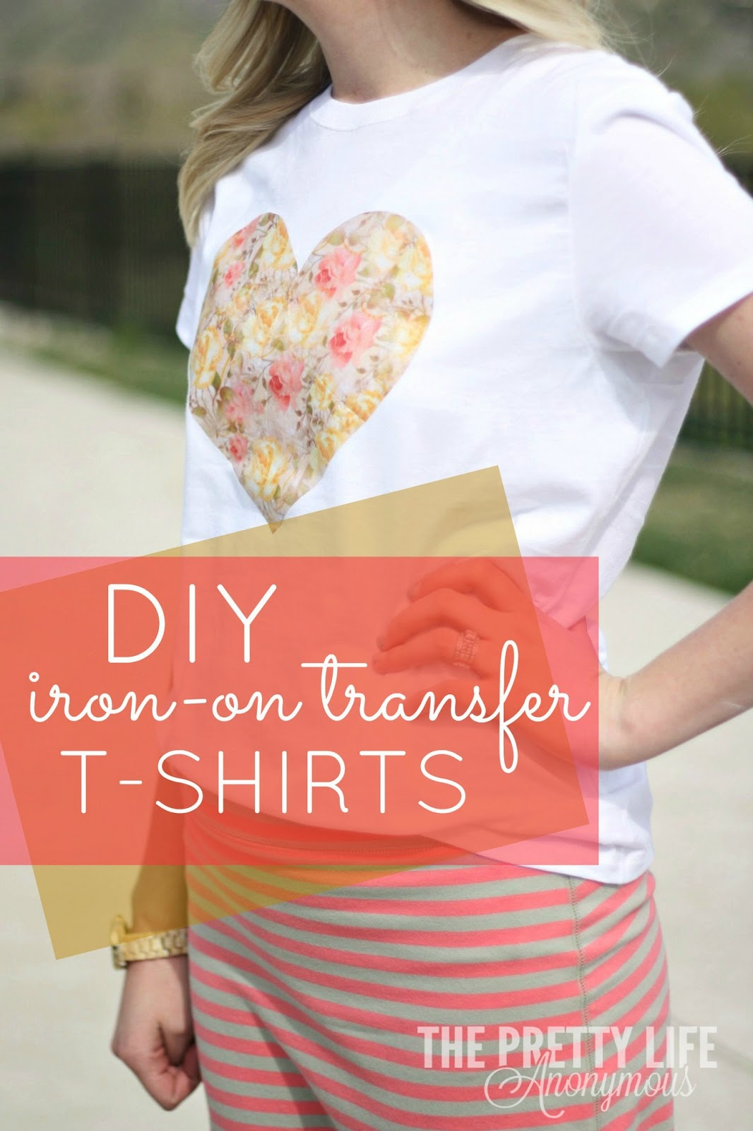 The pretty life girls pla diy iron on transfer shirts for Create your own iron on transfer for t shirt
