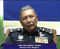 Ketua Polis Negara Tan Sri Ismail Omar pilihan raya umum ke-13