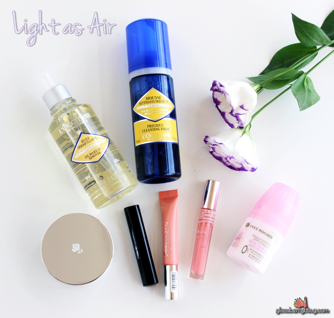 l'occitane immortelle oil mousse lancome miracle cushion shiseido veiled rouge catrice beautifying lip smoother review swatches גלוסברי בלוג איפור וטיפוח