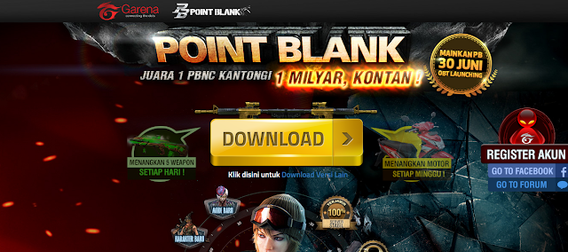 Cara Download Point Blank Garena atau Point Blank Revolution
