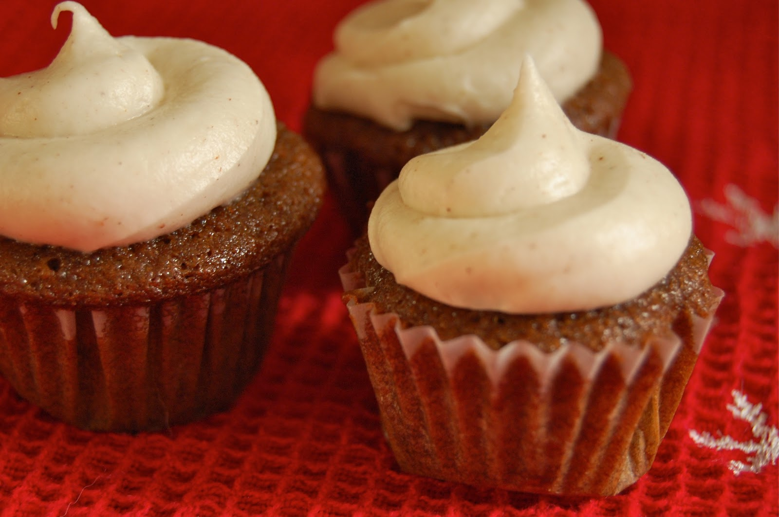 Much Kneaded: Gingerbread Cupcakes with Cinnamon Cream Cheese Frosting