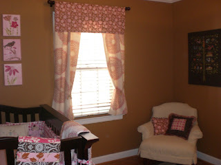 John Robshaw Blockprint Valance and Curtains in Baby Room