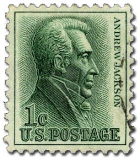 US Pres. Andrew Jackson (stamp)