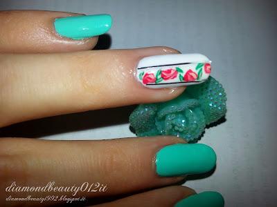 unghie rose primavera semplice effetto
