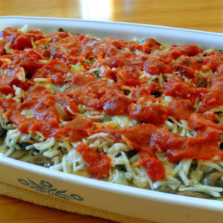 One Perfect Bite: Tomato and Spinach Strata