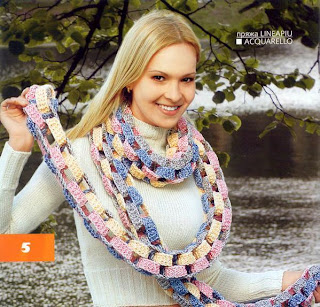 Free Knitting Pattern for an OXO Cabled Child's Scarf