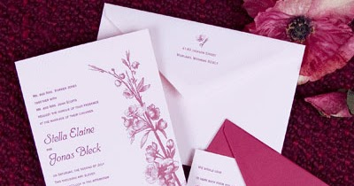 contoh undangan pernikahan warna pink contoh undangan