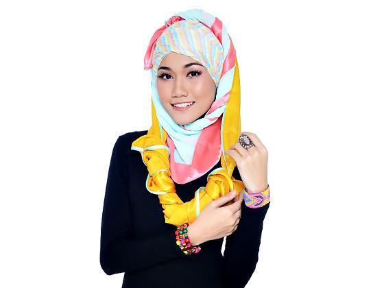 Hijabista DIY Tudung: Pastle Turban