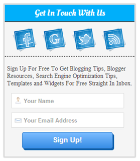 How To Add BluePrint Subscription Widget In Blogger
