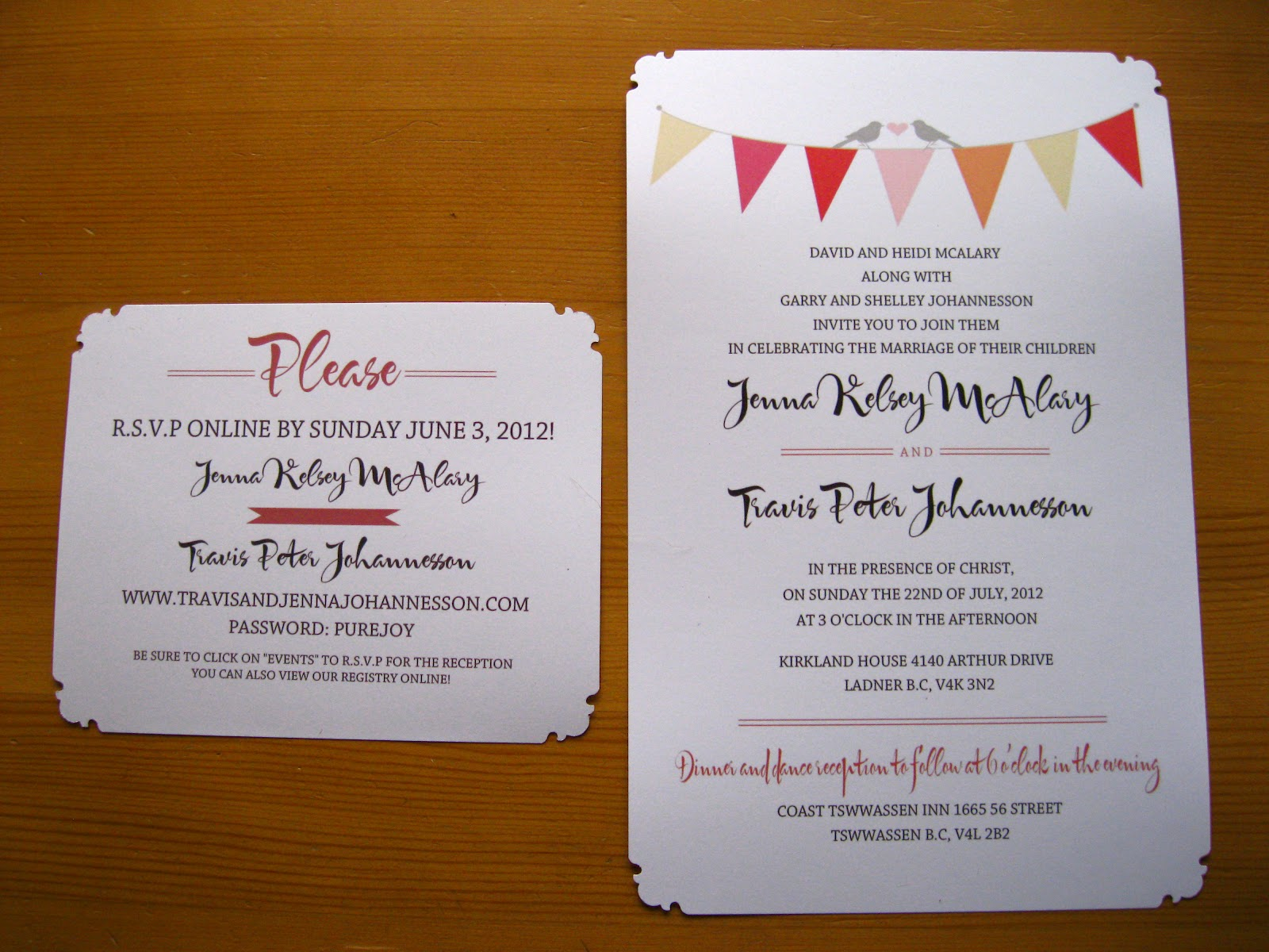 Pure Joy Wedding Invitations Diy