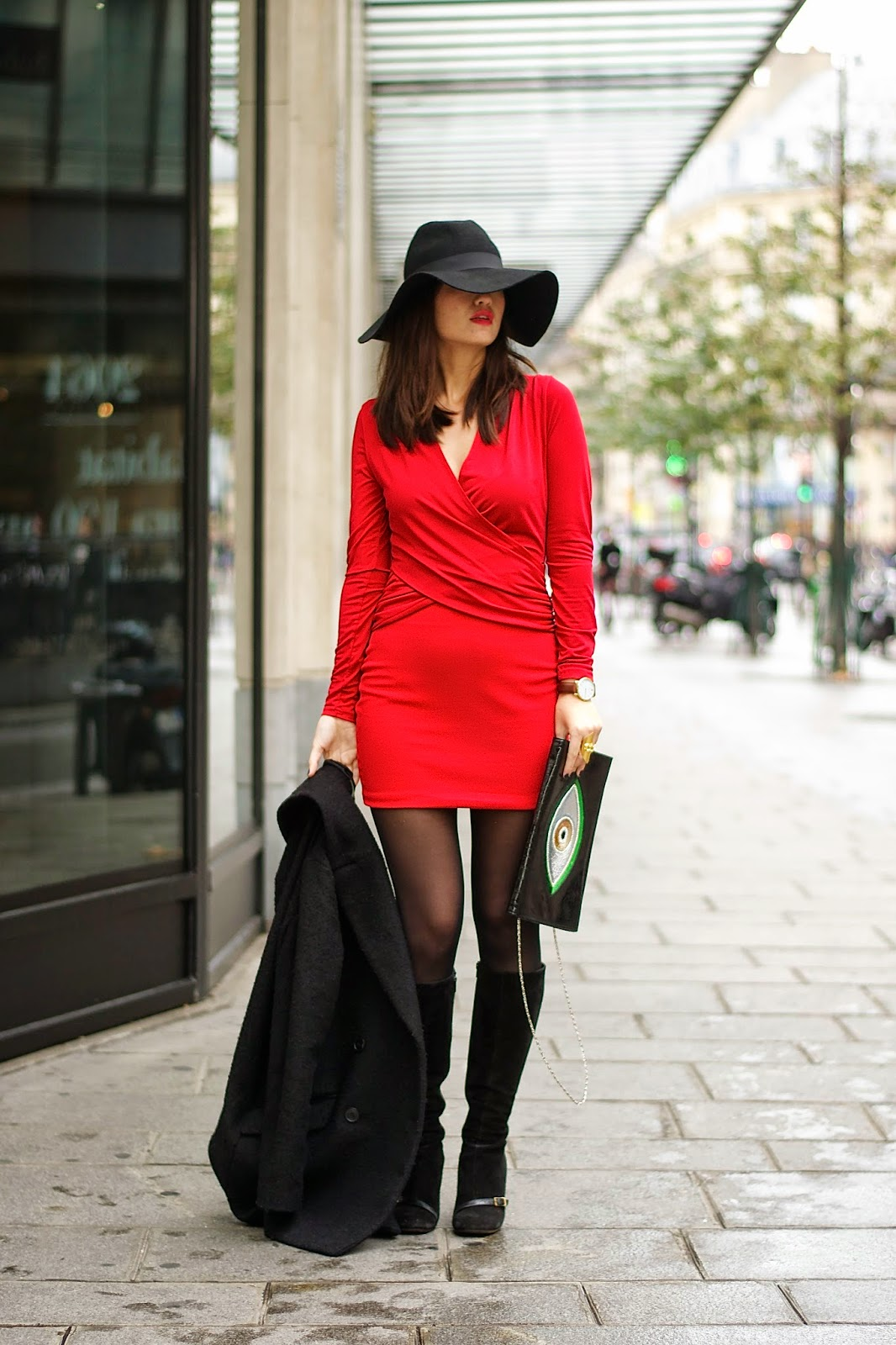 Red Dress Look