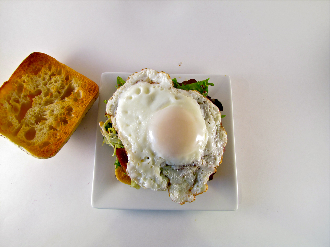 ChowGals: Fried Egg Sandwich with Bacon and Blue Cheese