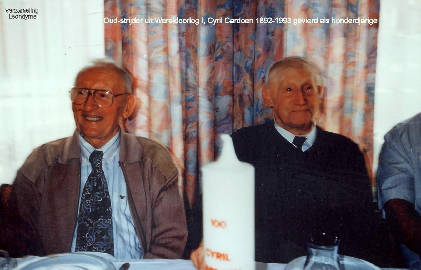 De honderdjarige Cyril Cardoen 1892-1993. Verzameling Leondyme