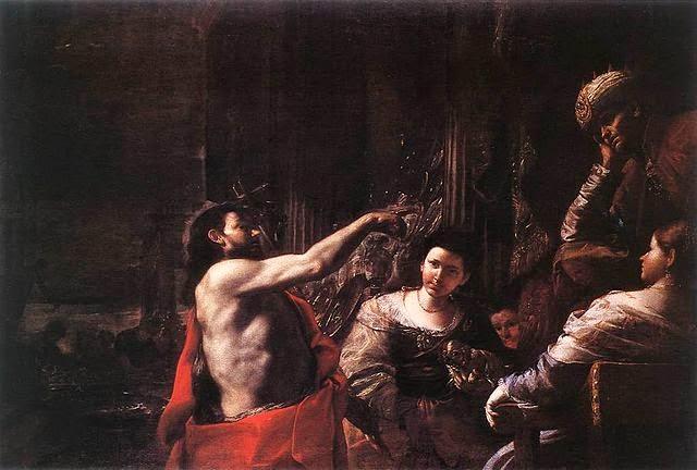 San Juan el Bautista ante Herodes del artista italiano Mattia Pretti