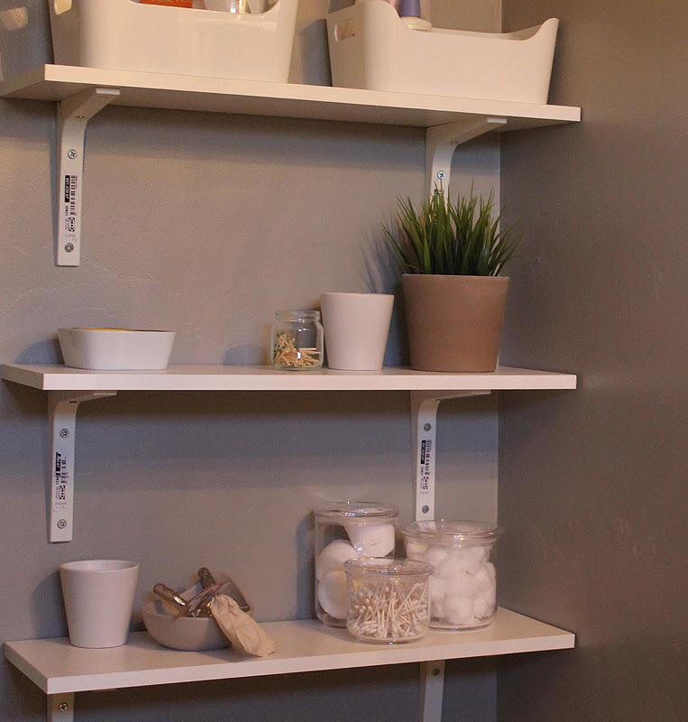 Practical shelving home depot center for Next home bathroom storage