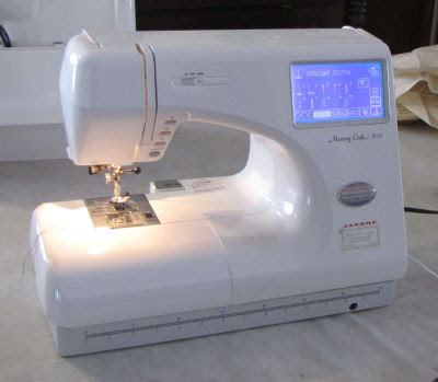 just throw money how to use the janome memory craft 9000