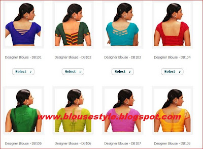 back side blouse designs