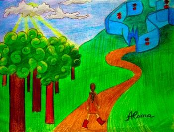 dibujo de un sueño laberinto bosque la esencia esoterica