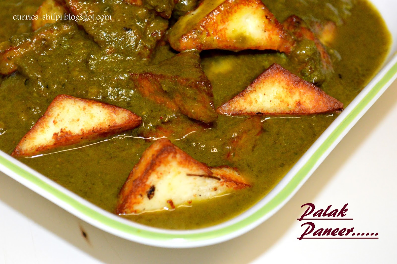how to prepare palak paneer curry