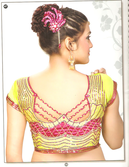 Innovative Saree Blouse Back Neck Designs  Women Interest