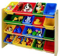 Armário de caixas organizadoras