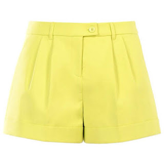 look reveillon short amarelo